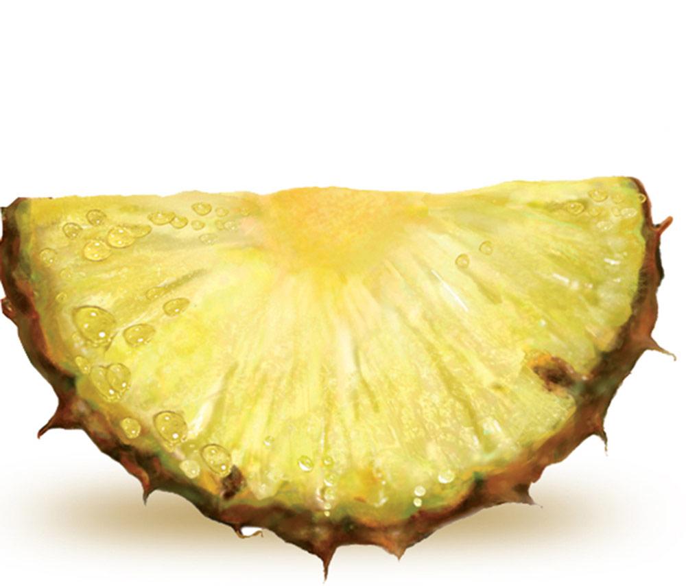 Ananas moitié