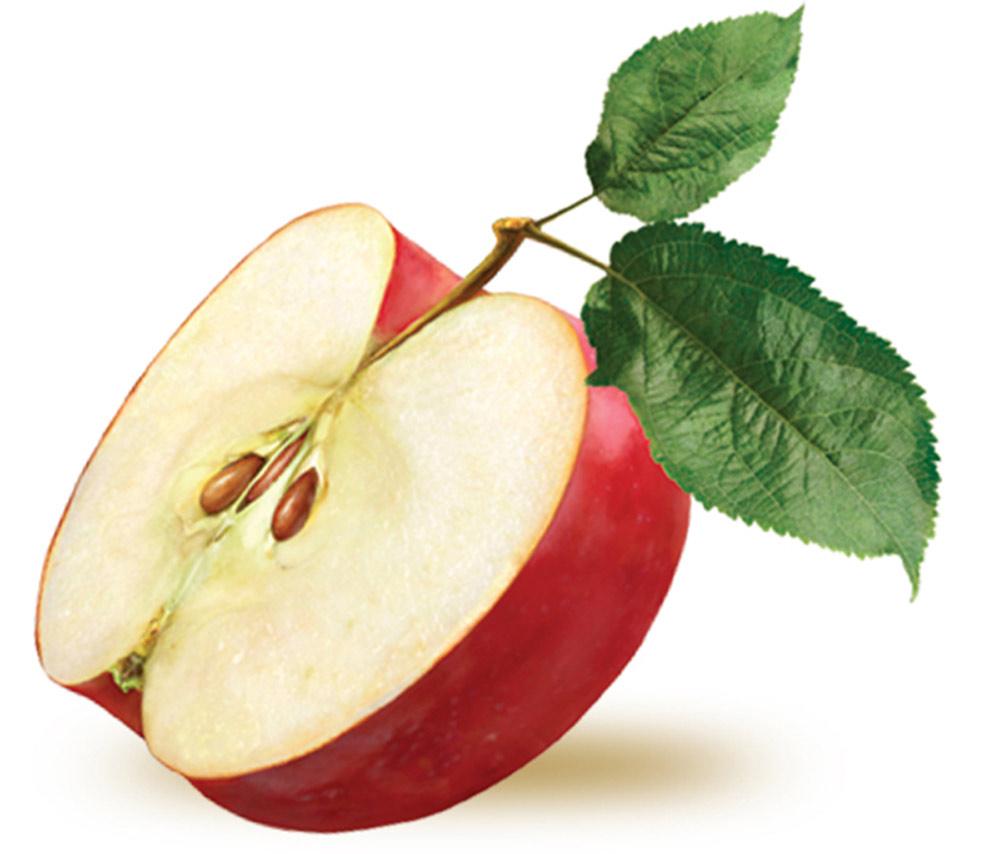 pomme moitié
