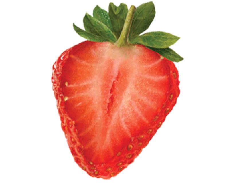 fraise moitié