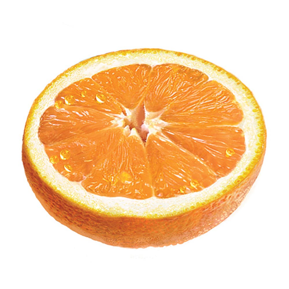 orange moitié